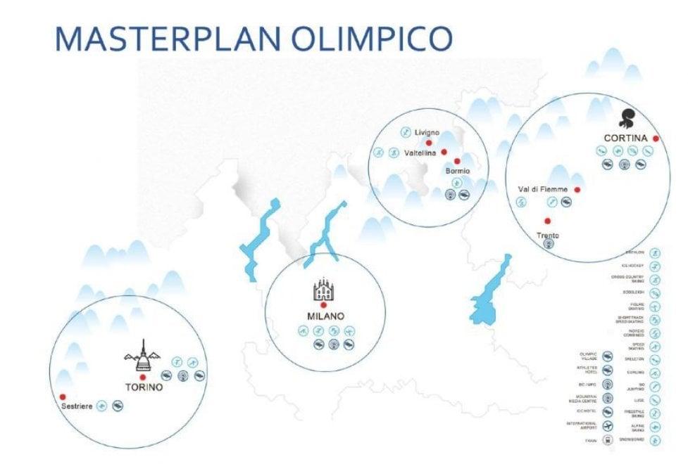 Giochi 2026, ecco il Masterplan olimpico