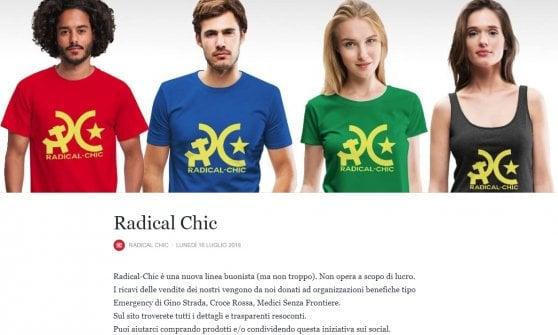 """""""Fieri di essere radical chic"""": contro il razzismo, un italiano inventa le magliette per """"buonisti"""""""