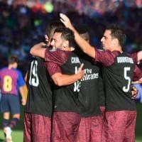ICC, il Milan piega il Barcellona: decide André Silva. Gattuso: