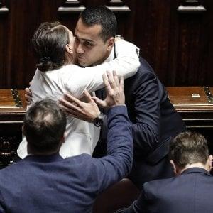 Il vicepremier Di Maio nel giorno dell'approvazione del decreto Dignità alla Camera