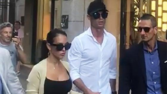Juventus: primi gol per Ronaldo, poi shopping a Milano con Georgina