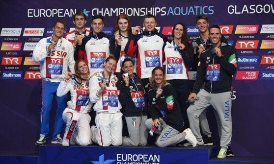 Nuoto, Europei: Pizzini bronzo nella rana, Miressi trascina sul podio la staffetta mista