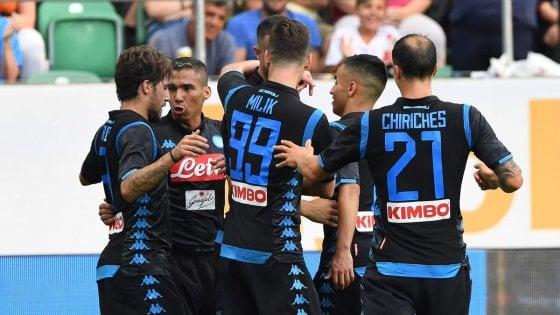 Riscatto Napoli, 3-1 in amichevole con il Borussia Dortmund