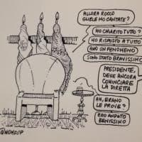 La vignetta contro il premier Conte dell'ex portavoce di Renzi