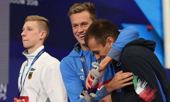 Nuoto, Europei: Paltrinieri, Scozzoli e Cusinato, tre argenti per l'Italia. Restivo bronzo nei 200 dorso