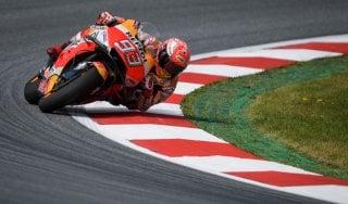 MotoGp, Austria: Marquez leader nelle seconde libere sul bagnato. Rossi è decimo