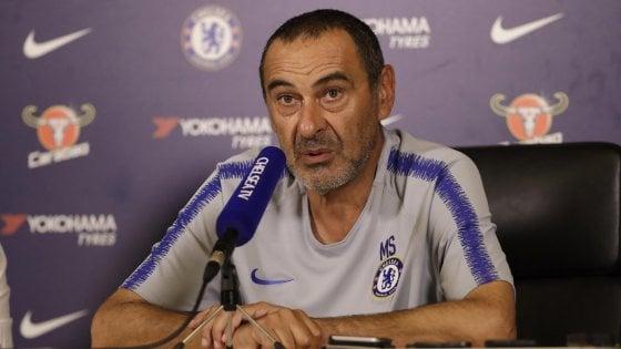 """Chelsea, Sarri: """"La squadra è completa, Hazard resta qua"""""""