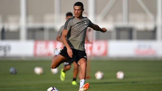 Juventus, Cristiano Ronaldo: subito gol nella partita di Villar Perosa