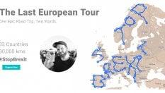 Trentamila chilometri attraverso l'Europa: così Andy scrive