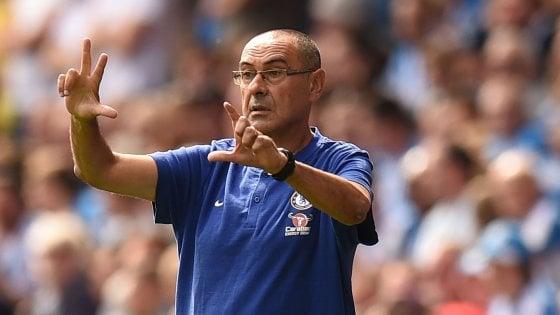 Sarri, buona la prima in Premier: il Chelsea vince 3-0 con l'Huddersfield