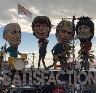 Rolling Stones esultano per il carnevale di Viareggio