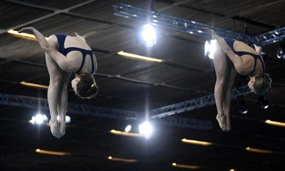 Tuffi, Europei: oro Bertocchi-Pellacani nel trampolino sincro: ''Non ci sembra vero''