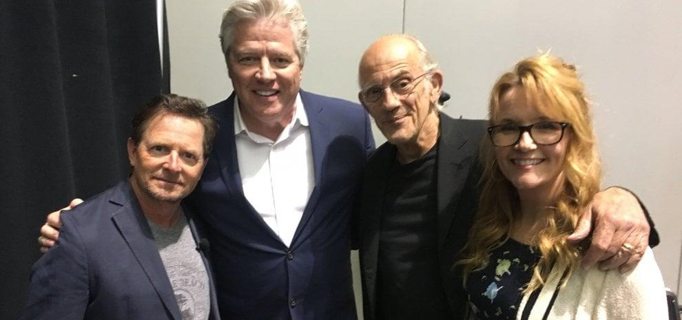 Risultati immagini per Ritorno al futuro', la reunion di Marty, Doc, Lorraine e Biff