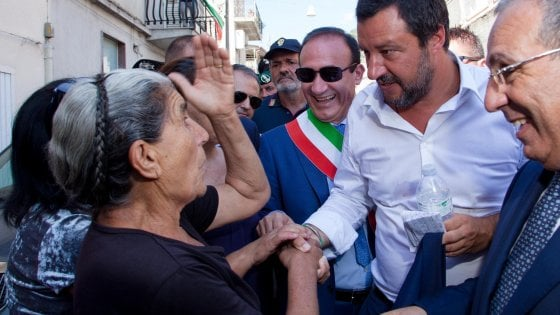 Calabria, Salvini a San Luca, il comune che non vota mai