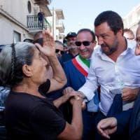 """Calabria, Salvini a San Luca, il comune che non vota mai: """"Qui non c'è solo 'ndrangheta"""""""