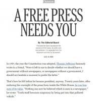 Contro Trump 350 giornali: