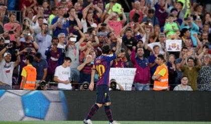 Barcellona subito nel segno di Messi L'Alaves non può nulla: finisce 3-0