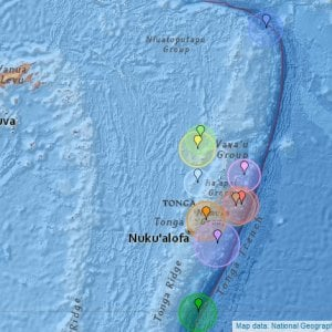 Terremoto a Tonga di magnitudo 8.2. Epicentro profondo a 560 km sotto la crosta terrestre