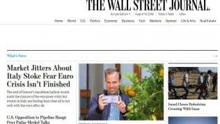 """Il Wall Street Journal avverte: """"Attenzione all'Italia, la crisi dell'euro potrebbe non essere finita"""""""
