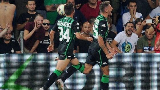 Sassuolo-Inter 1-0: nerazzurri con poche idee, decide un rigore di Berardi