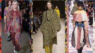Lunghi, colorati e comodissimi: sono gli abiti foulard per l'autunno-inverno 2018