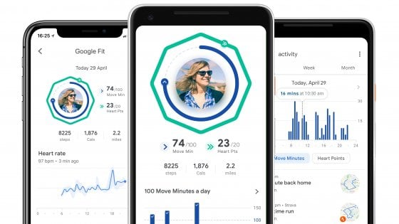 Google Fit si rinnova: più in forma con minuti movimento e p