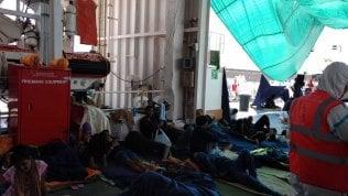 I migranti a bordo della Diciotti