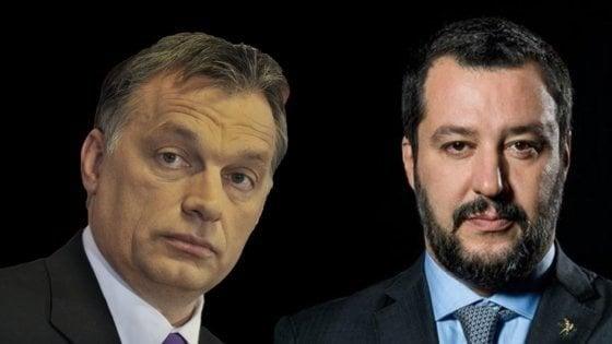 """Salvini-Orbàn, il M5s prende le distanze: """"Non riguarda il governo. Stop fondi europei all'Ungheria"""""""