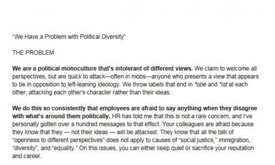 """""""Abbiamo un problema. L'intolleranza alle diversità politiche"""": la sfida dei dipendenti a Facebook"""