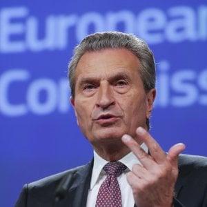 Il commissario Oettinger