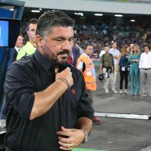"""Milan, Gattuso: """"Squadra da Champions, ma ci manca il carattere"""""""