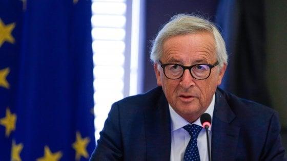 Il presidente della Commissione europea, Juncker