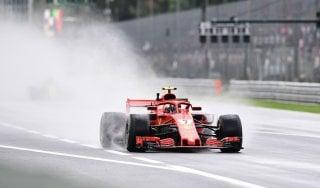 F1, Gp Monza: prime libere al via sotto la pioggia