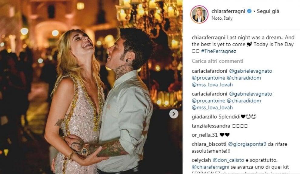 """#TheFerragnez, super party di Chiara e Fedez il giorno prima del """"sì"""""""