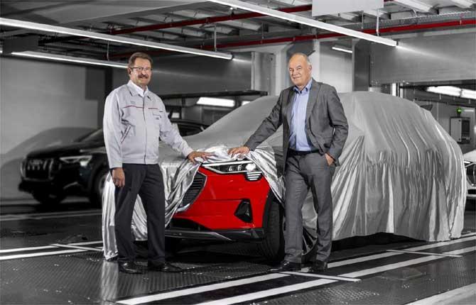 Audi e-tron, iniziata la produzione nello stabilimento di Bruxelles