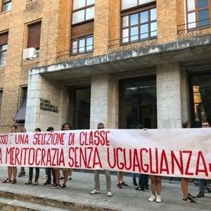 Università, proteste contro il numero chiuso