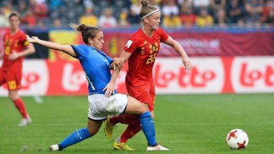 Qualificazioni Mondiali femminili, ko indolore per l'Italia: il Belgio vince 2-1