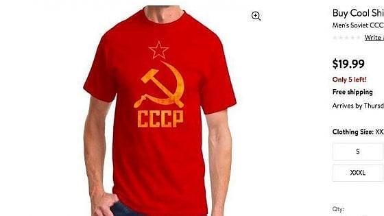 """Lituania, il governo contro Walmart e le sue t-shirt: """"Insultano le vittime dell'occupazione sovietica"""""""