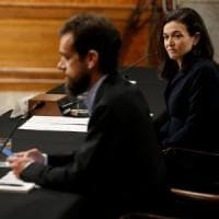 I dirigenti di Facebook e Twitter in audizione al Congresso: