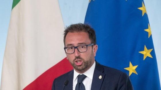 """Anticorruzione, sì del Cdm al ddl. Bonafede: """"Daspo a vita per condanne sopra i due anni"""". Assente Salvini"""