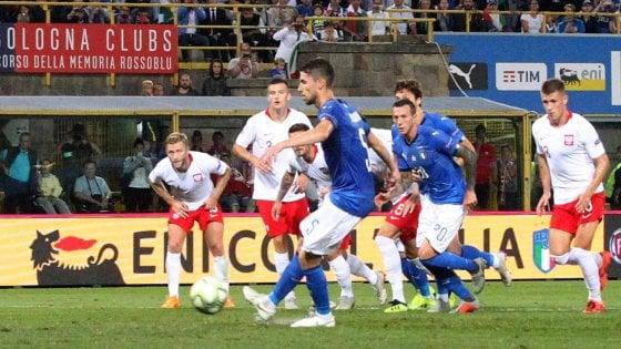 Italia-Polonia 1-1, gli azzurri faticano ma ripartono