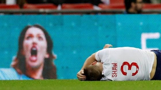 Nations League: la Spagna espugna Wembley, paura per Shaw