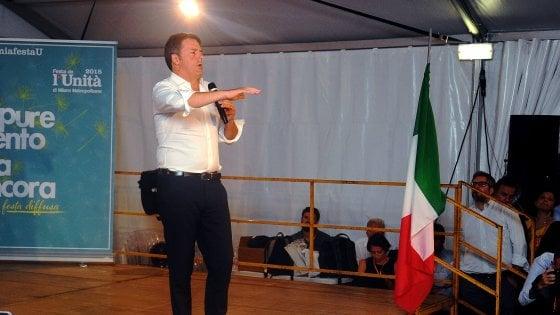 """Pd, Renzi: """"Opposizione dura a questo governo di cialtroni. Hanno rubato 49 milioni e fanno finta di niente"""""""