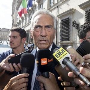 """Gravina: """"Patto d'onore per il presidente Figc"""". Il silenzio di Tommasi. Lotito:""""Io non decado"""""""