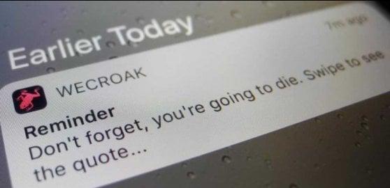 """""""Ricordati che devi morire"""": ecco l'app che te lo notifica 5 volte al giorno"""