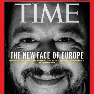 """Salvini sulla copertina di Time: """"Il nuovo volto dell'Europa"""""""