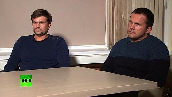 """Skripal, i due sospetti in tv: """"A Salisbury solo per turismo"""""""