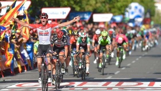 Ciclismo, Vuelta: Wallays sorprende tutti. Sagan e Viviani sbadati e beffati