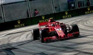 F1, Singapore; libere: Raikkonen il più veloce, Vettel contro il muro