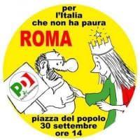 Pd, Staino disegna il logo per la manifestazione del 30 settembre